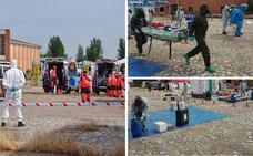 El cuartel pacense de Sancha Brava, escenario de un simulacro de un ataque químico terrorista