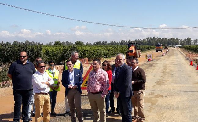 La carretera de Zurbarán estará terminada en agosto
