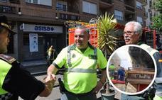 Un guardia civil y un policía salvaron la vida del anciano en el incendio de Don Benito