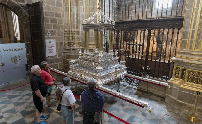 La catedral de Plasencia estrena andas para la procesión del Corpus