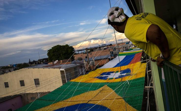 Calles de Manaus decoradas para el Mundial Rusia 2018