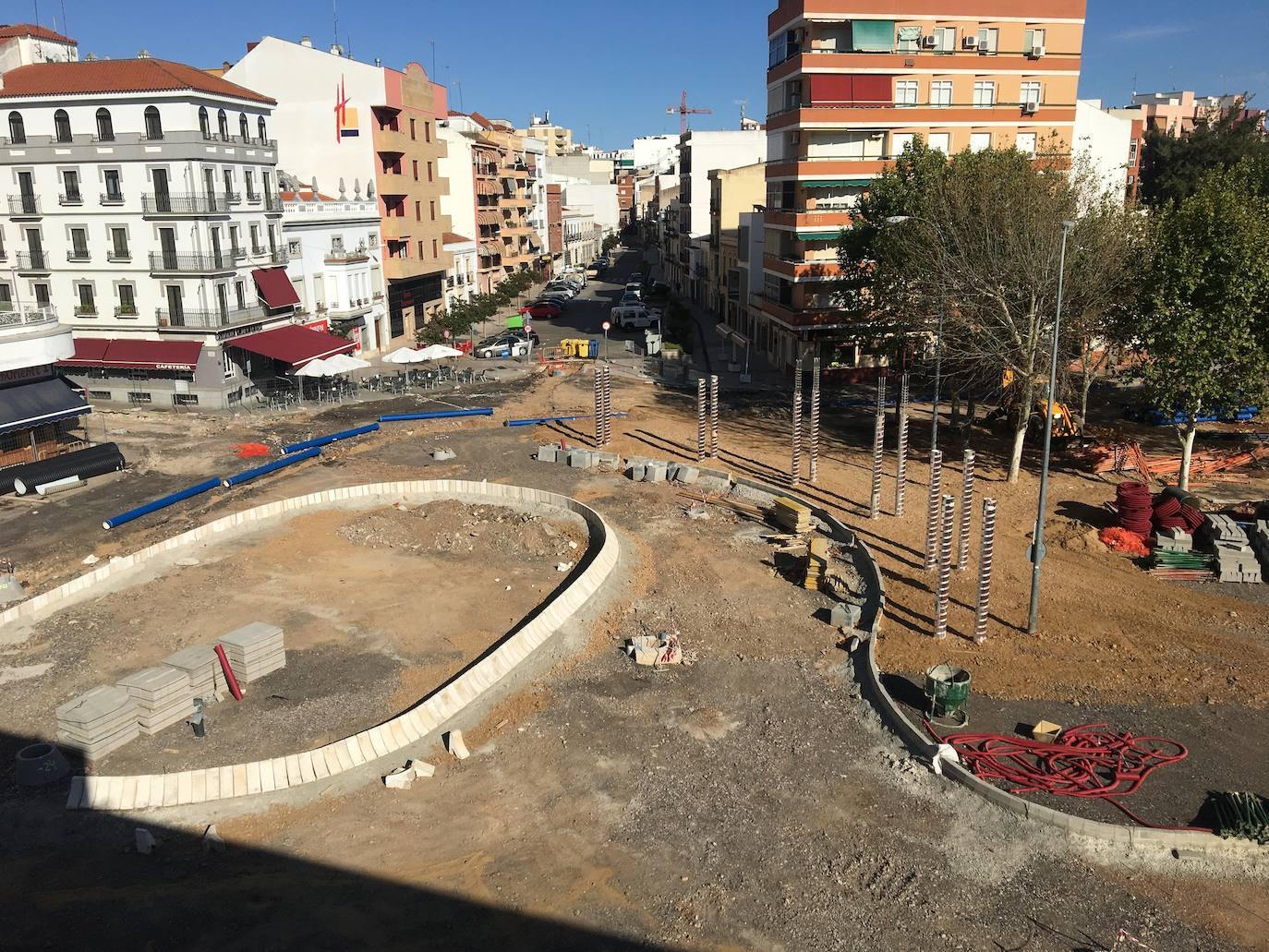 La plaza de Extremadura terminará en noviembre