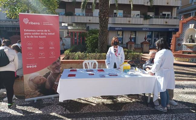 Ribera Almendralejo realiza controles para una salud responsable en la Semana de la Salud y del Mayor