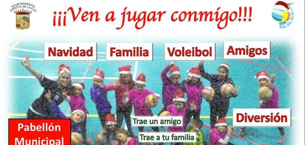 Tarde de voleibol navideña en Arroyo de la Luz