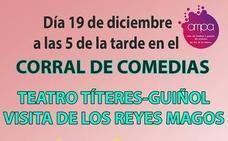 Teatro de títeres-guiñol y la visita de los Reyes Magos, organizado por el AMPA de Ntra. Sra. de los Dolores