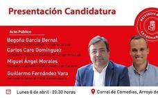 El PSOE de Arroyo de la Luz presenta a Carlos Caro como candidato a la alcaldía