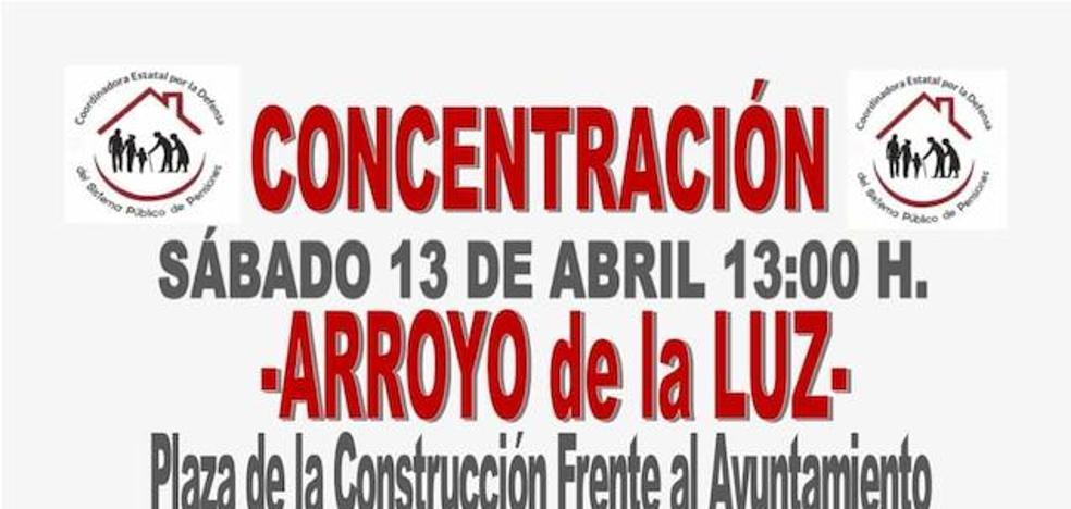 La Plataforma Arroyana por la Defensa de las Pensiones Públicas convoca una nueva concentración