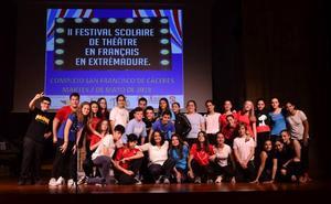 El colegio Nuestra Señora de los Dolores de Arroyo de la Luz, premiado en el festival de teatro en francés