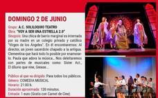 El Cine-Teatro Municipal acoge hoy la comedia musical 'Voy a ser una estrella 2.0', del grupo 'Soliloquio Teatro'