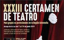 Esta noche se clausura la XXXIII edición del Certamen de Teatro de Arroyo de la Luz