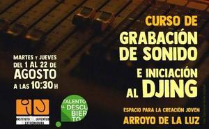 El ECJ de Arroyo de la Luz acoge un curso de Grabación de Sonido e Iniciación al Djing