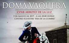 Doma vaquera en el Centro Ecuestre 'Era de la Cumbre' de Arroyo de la Luz