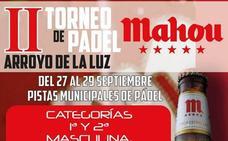 El próximo fin de semana se disputará el II Torneo de Pádel de Arroyo de la Luz