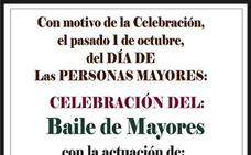 Miriam Expósito actuará durante el Baile de Mayores del próximo domingo 6 de octubre