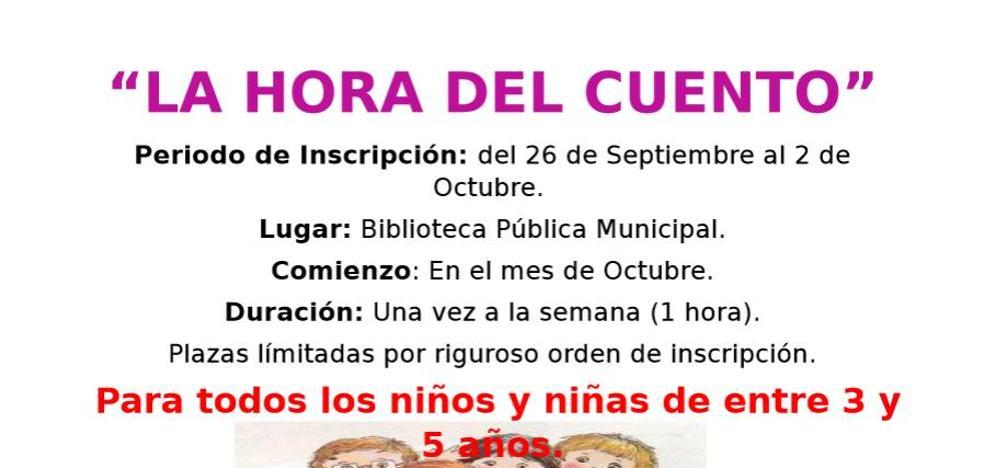 Esta tarde comienza en la Biblioteca Pública Municipal de Arroyo 'La hora del cuento'
