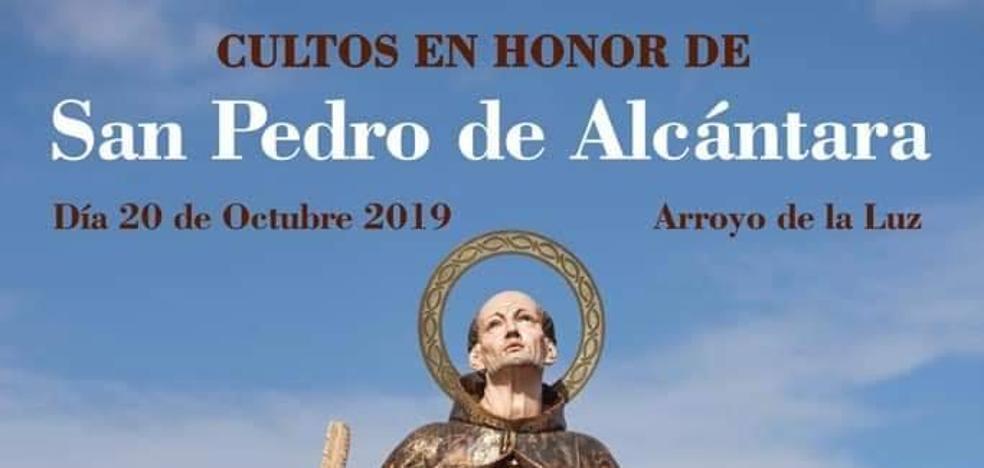 El 20 de octubre se celebran los cultos en honor a San Pedro de Alcántara