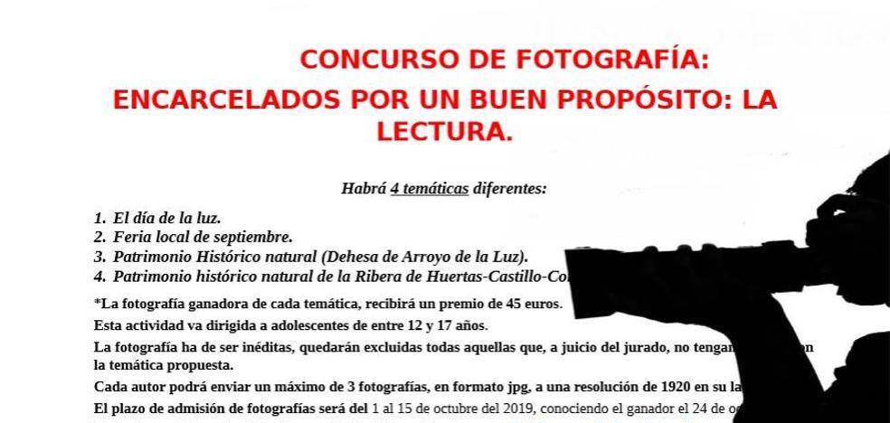 Ampliado el plazo para el concurso fotográfico 'Encarcelados por una buena causa, la lectura'