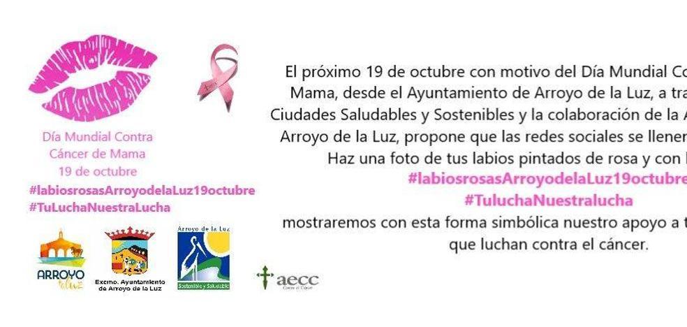 Arroyo de la Luz apoya a los enfermos de cáncer con la campaña 'Labios Rosas'
