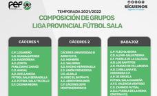 Elaborados los grupos de competición de la Primera División Extremeña Fútbol Sala