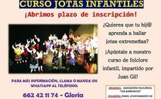 Los Barrancos ofrece un curso de jotas infantiles