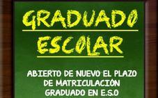 Abierto el plazo de matriculación para el graduado en ESO