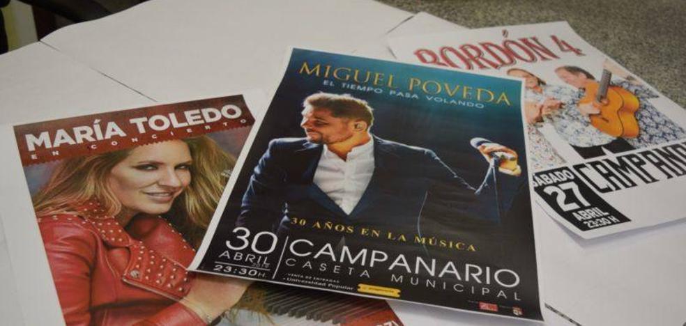 Las entradas para los conciertos de Miguel Poveda y María Toledo ya están a la venta