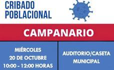 El Auditorio Municipal acoge este miércoles un cribado masivo para detectar casos asintomáticos