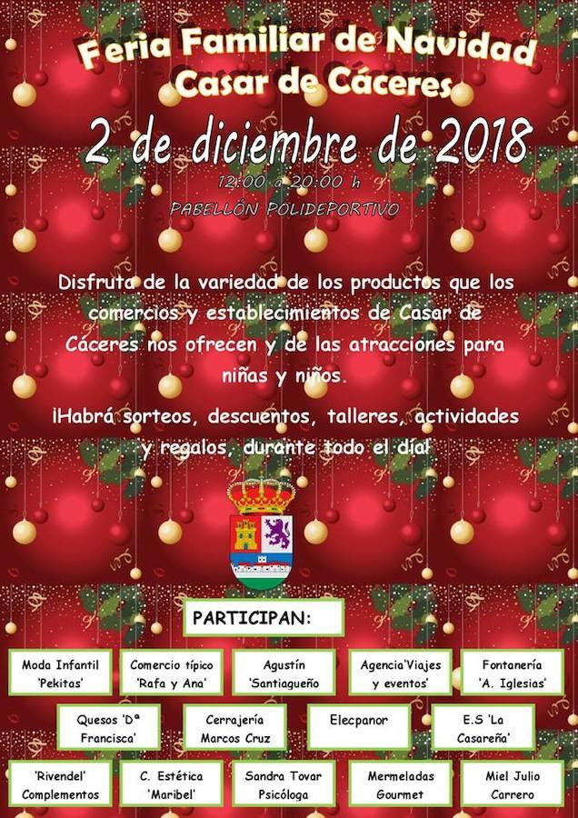 14 empresas estarán presentes este domingo en la Feria Familiar de Navidad