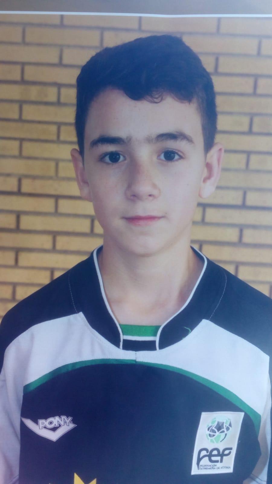 Daniel Villa, el alevín casareño de la Selección extremeña de fútbol sala