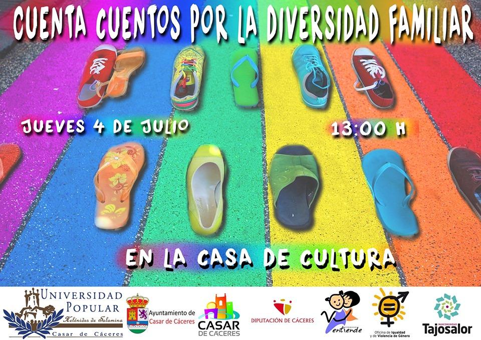 Organizan cuentacuentos por la diversidad familiar para este jueves