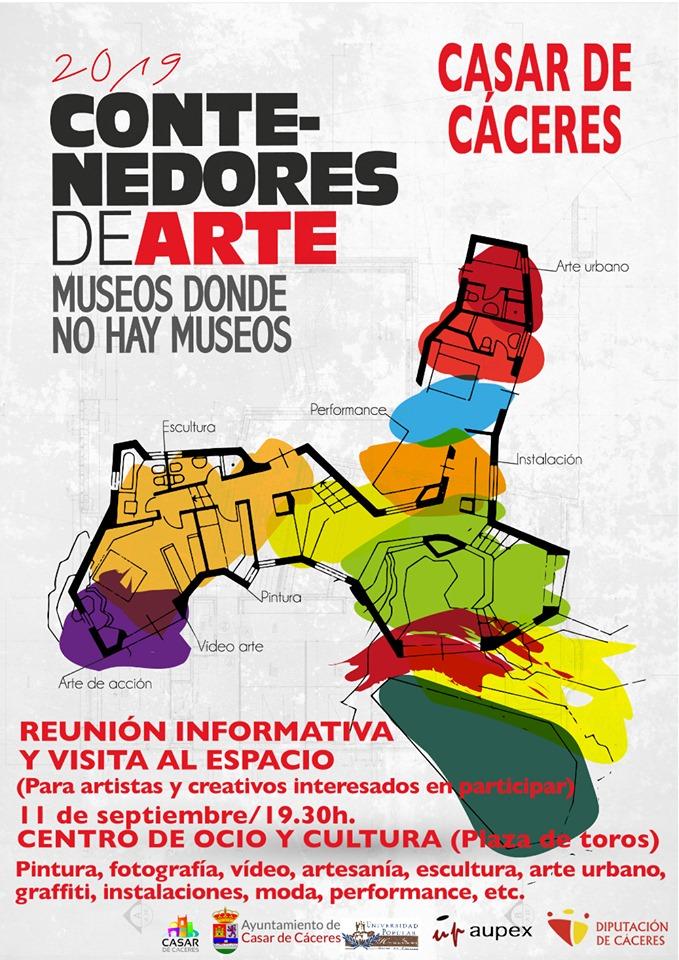 Casar de Cáceres se úne al proyecto cultural 'Contenedores de arte'