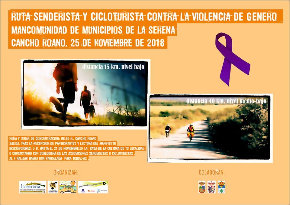 La ruta senderista y cicloturista contra la violencia de género se celebrará el 25 de noviembre