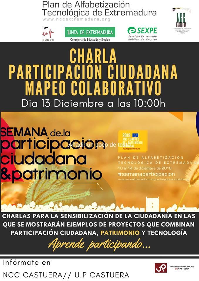 El Nuevo Centro del Conocimiento de Castuera se suma a la Semana de la Participación Ciudadana y Patrimonio