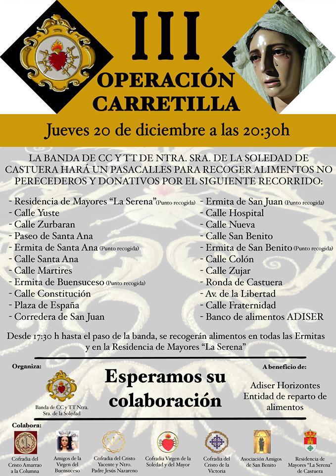 Operación Carretilla de la Banda de Cornetas y Tambores Nuestra Señora de la Soledad