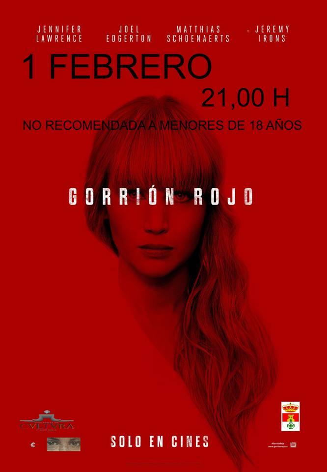 El auditorio del Centro Cultural acoge este viernes la película 'El Gorrión Rojo'