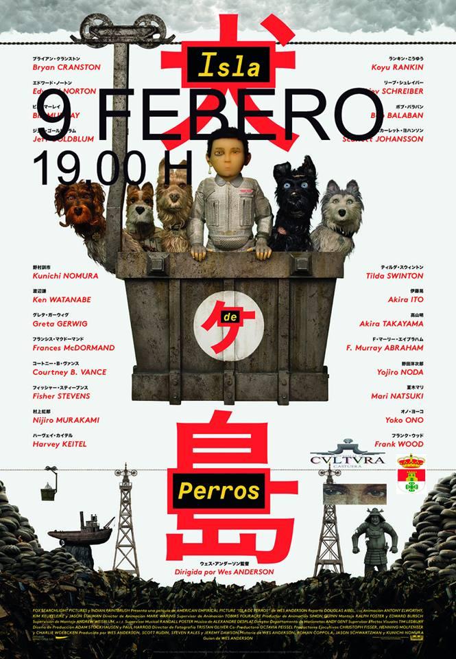 El auditorio del Centro Cultural acoge este sábado la proyección de la película 'Isla de perros'