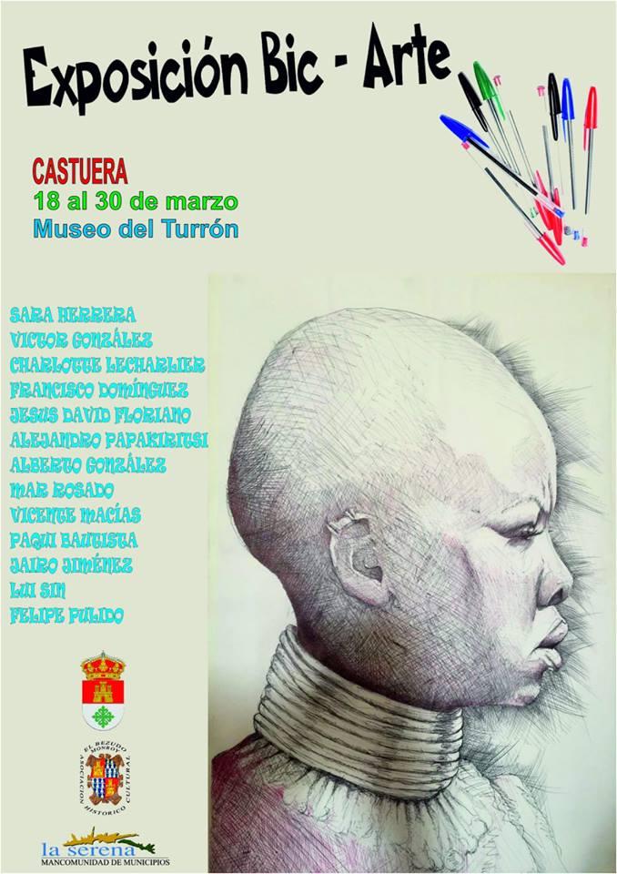 La exposición 'Bic-Arte' recala en Castuera del 18 al 30 de marzo