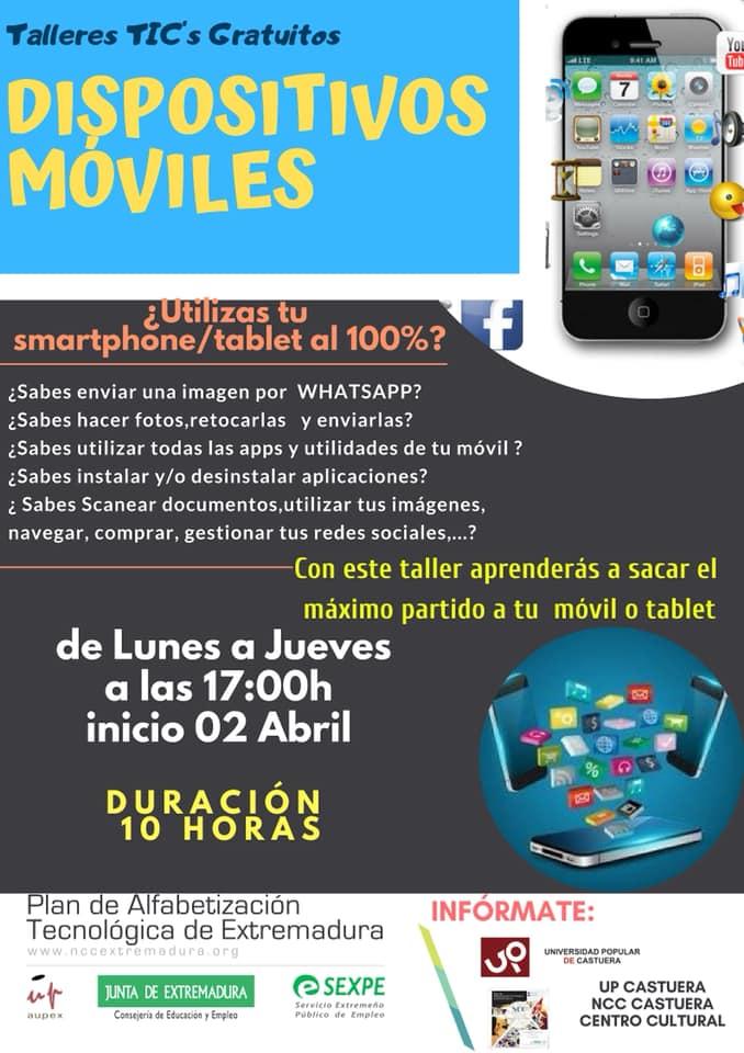 El NCC de Castuera oferta un taller gratuito sobre dispositivos móviles