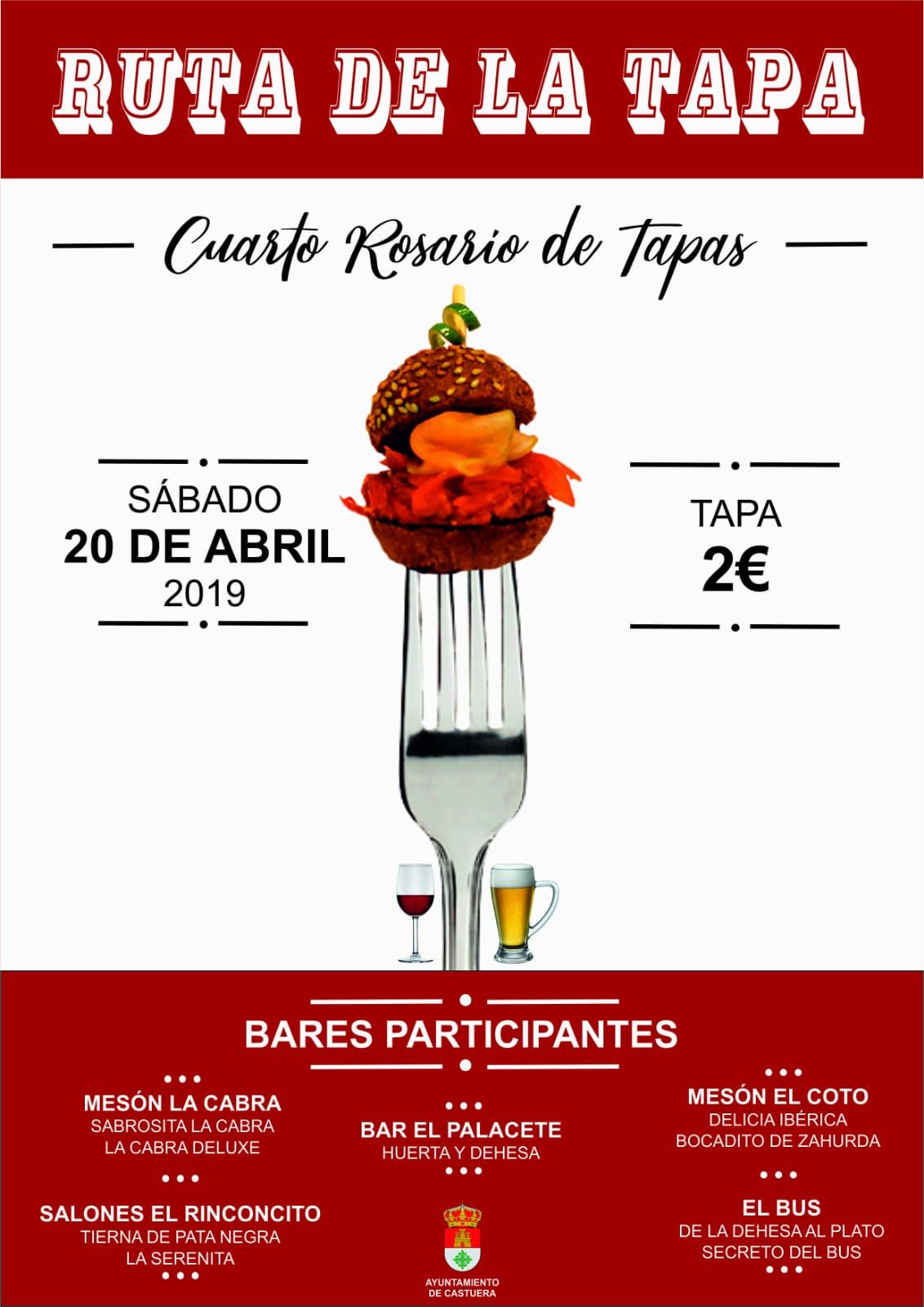 La ruta de la tapa 'Cuarto Rosario de Tapas' vuelve a la cita con 5 bares participantes