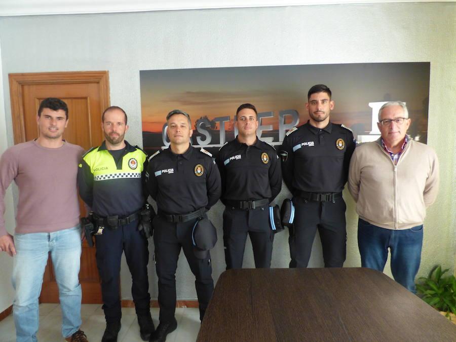 Los tres nuevos agentes de la Policía Local de Castuera comienzan sus meses de prácticas