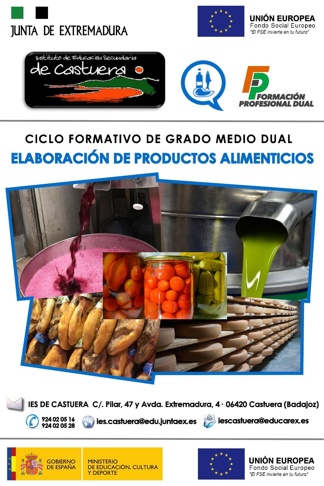 La Formación Profesional Dual de Industrias Alimentarias llega al IES de Castuera