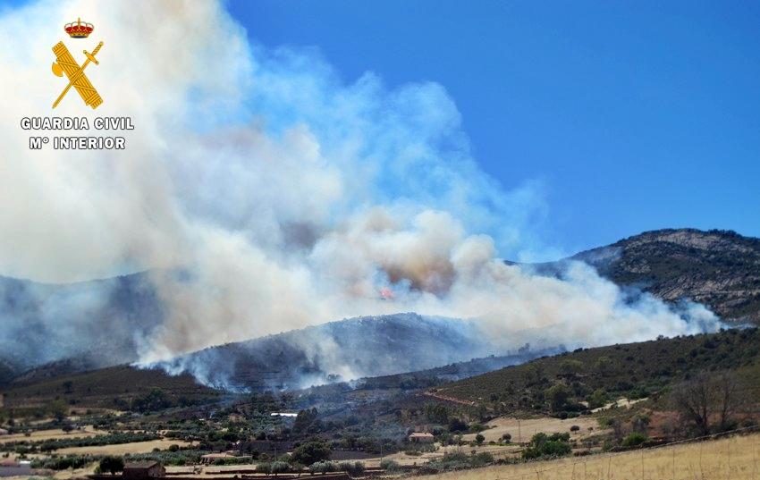 La Guardia Civil esclarece tres incendios forestales en las comarcas de La Serena y Zafra-Río Bodión