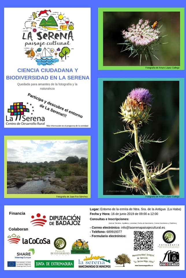 La Serena Paisaje Cultural programa untaller fotográfico de 'Ciencia Ciudadana y Biodiversidad en La Serena'