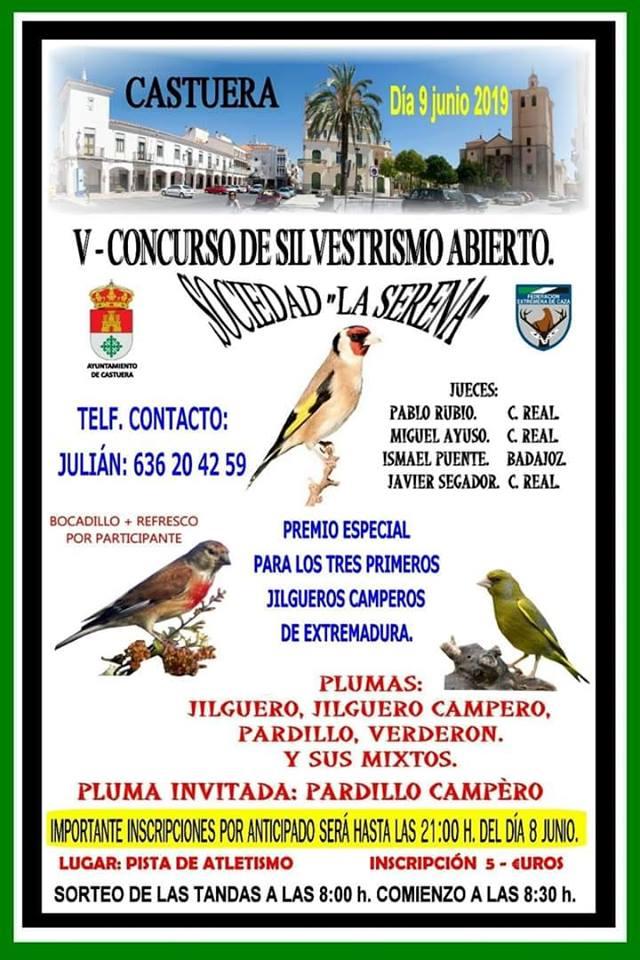 La Sociedad Silvestrísta La Serena de Castuera celebra mañana un concurso abierto