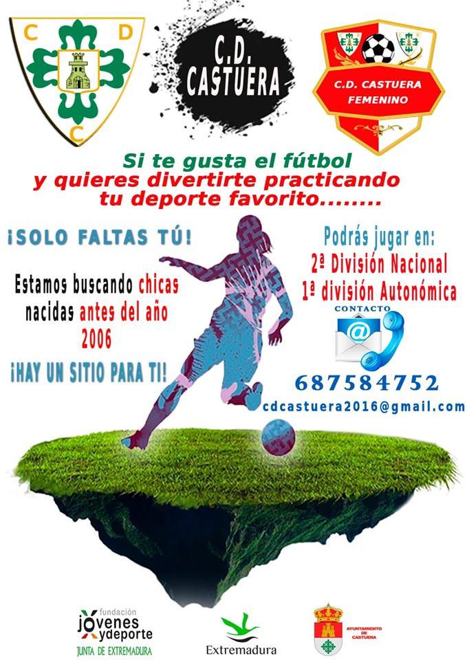 El CD Castuera inicia una campaña de captación de jugadoras para su equipo femenino