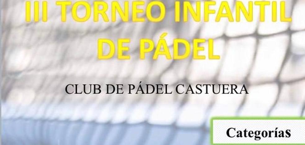 Mañana comienza el III Torneo Infantil de Pádel
