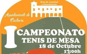 El 'I Campeonato de Tenis de Mesa' comenzará el 18 de octubre