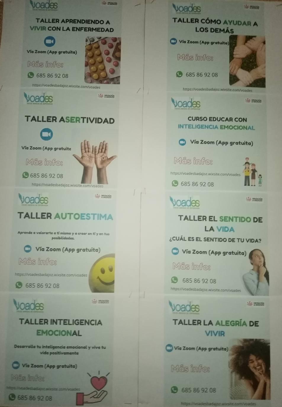 Voades Badajoz oferta 8 nuevos cursos y talleres