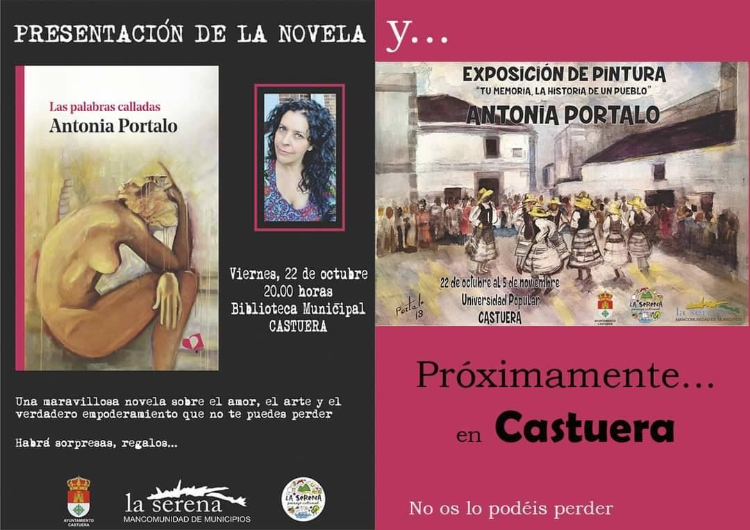 Antonia Portalo presenta su novela 'Las palabras calladas' en la biblioteca