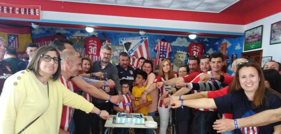 La peña Atlético de Madrid de Coria celebró su fiesta anual con variedad de actos